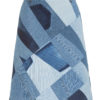Ksenia Schnaider Reworked Patchwork Denim Skirt Mid Length