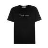 Ksenia Schnaider 'Think Same' black cotton t-shirt