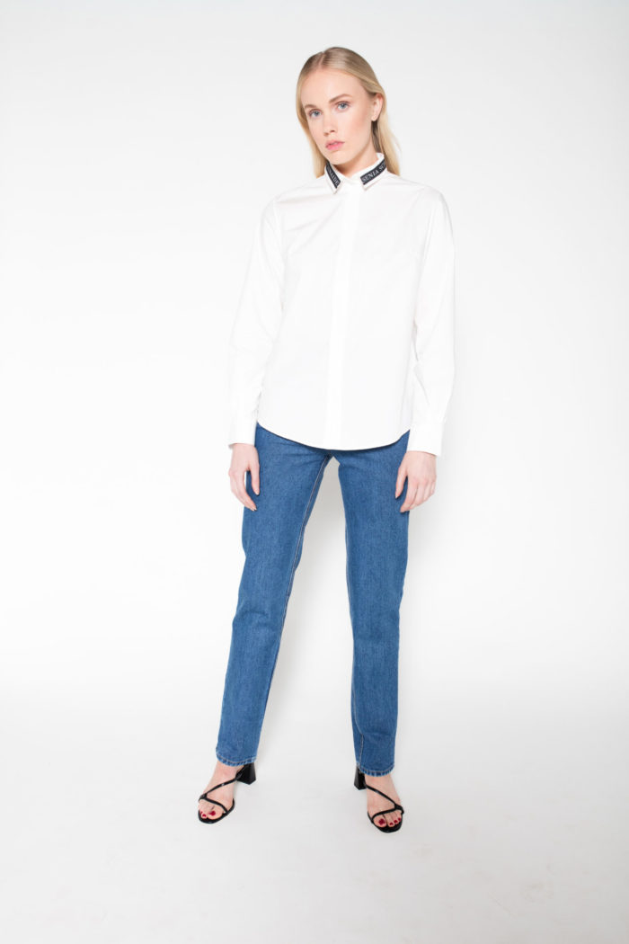 Rolling Grenades Ksenia Schnaider White Shirt with Logo Collar