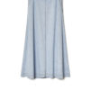 Kowtow Outline Skirt in pale blue denim A-line floor length style buy at Rolling Grenades Down Catwalks