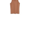 Kowtow Racer Back Singlet in clay slim fitted style buy at Rolling Grenades Down Catwalks