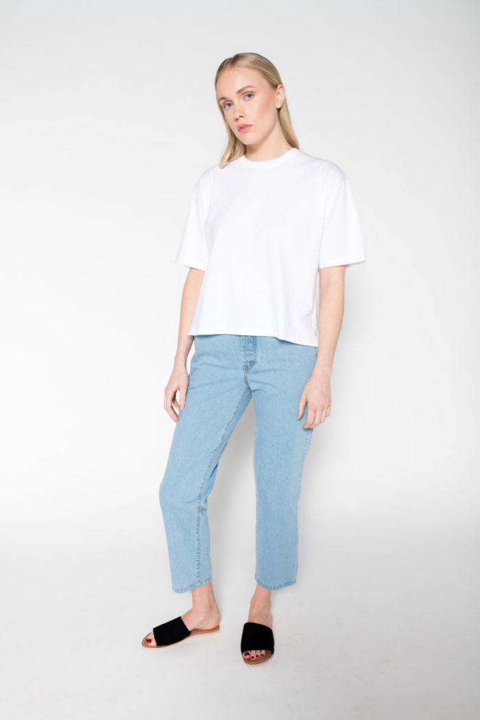 Rolling Grenades Kowtow Boxy T-shirt in White