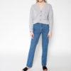 Rolling Grenades - Ksenia Schnaider Mom Style Medium Blue Jeans