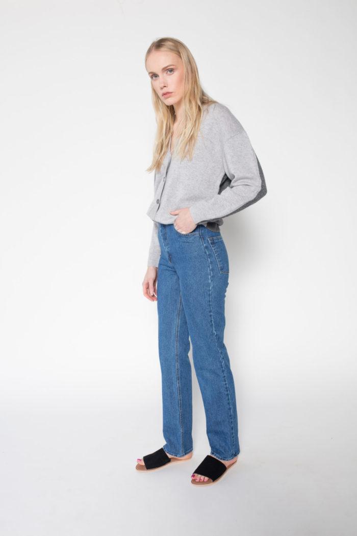 Rolling Grenades Ksenia Schnaider Mom Style Medium Blue Jeans