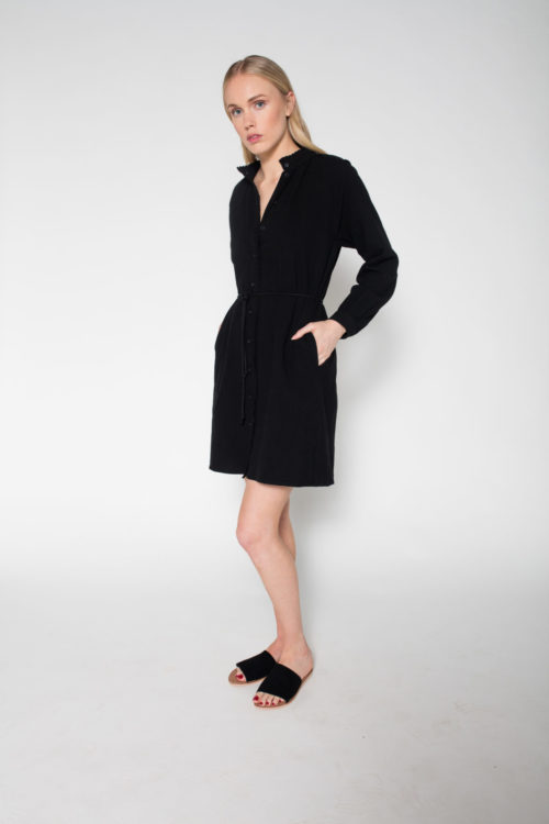 Rolling Grenades SVILU Black Shirt Dress