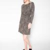 Rolling Grenades SVILU Drape Dress in Leopard Print