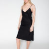 Rolling Grenades Kowtow Black Slip Dress now available