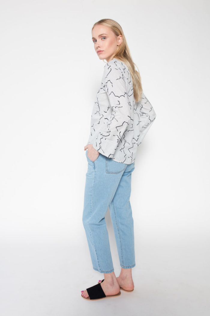LANA Bentja Cotton Blouse now available at Rolling Grenades