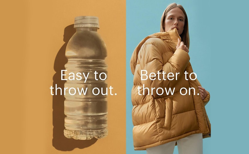 Minimalist clothing brand Everlane have developed a line of clothing that utilises fabric made from recycled plastic bottles.