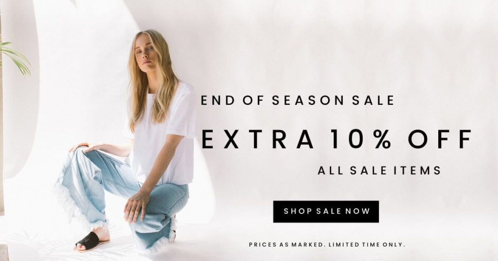 Sale continues with an extra 10% off sale items. Limited time only.