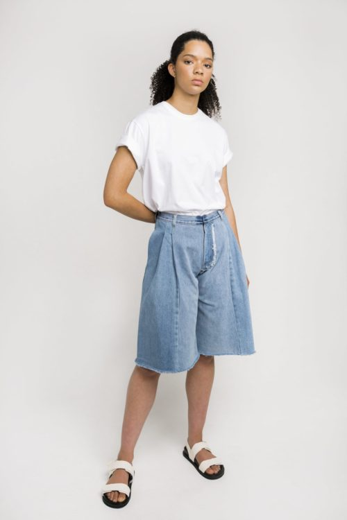 Sustainable Denim Label Ksenia Schnaider's Reworked Denim Shorts