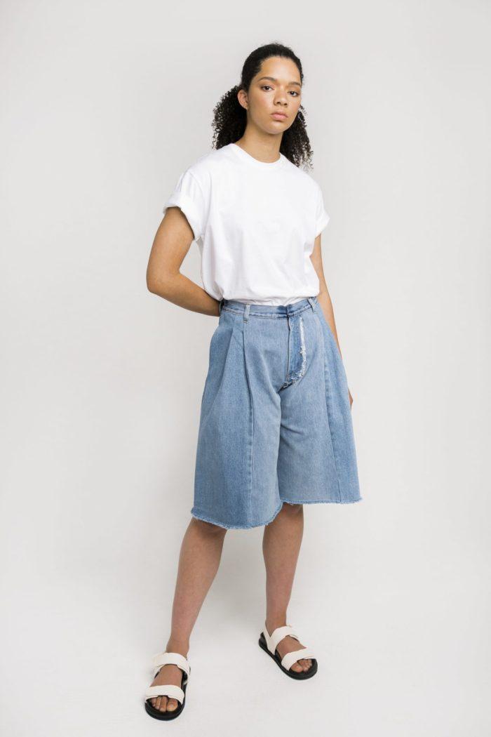 Sustainable Denim Label Ksenia Schnaider's Reworked Denim Shorts