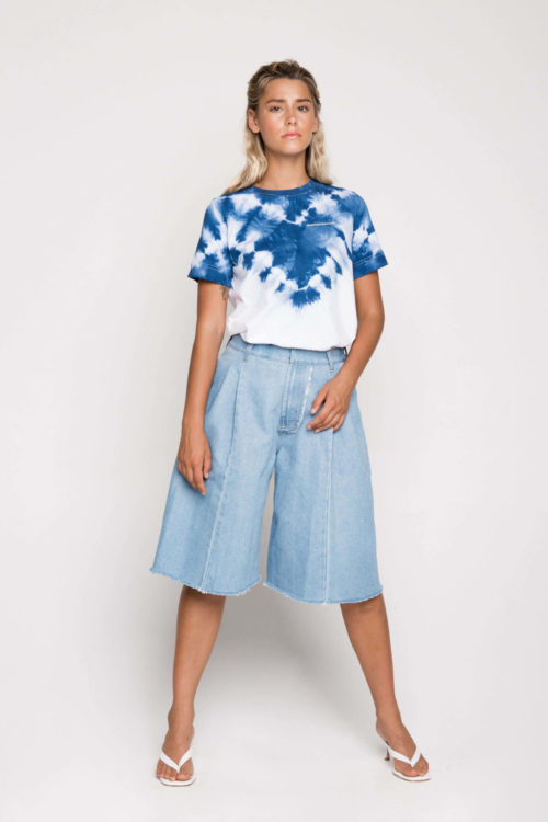 Sustainable label Ksenia Schnaider's tie dye t-shirt is reimagining boho with a street style edge. The luxe cotton tee is a relaxed fit and is individually hand dyed.