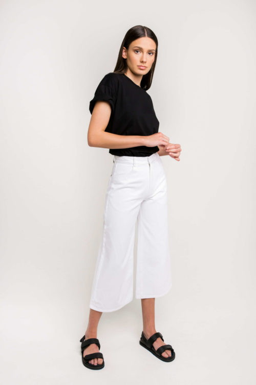 Denim Label Ksenia Schnaider's Wide Leg Denim Jeans