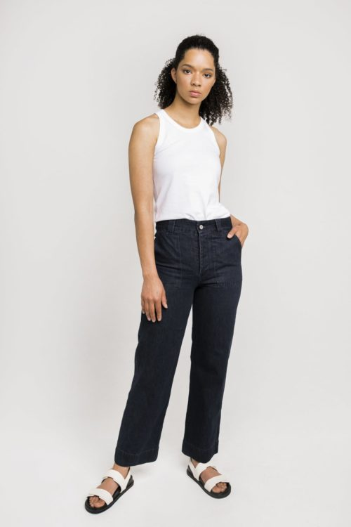 Ethical and Sustainable Label Kowtow's High Rise Denim Jeans