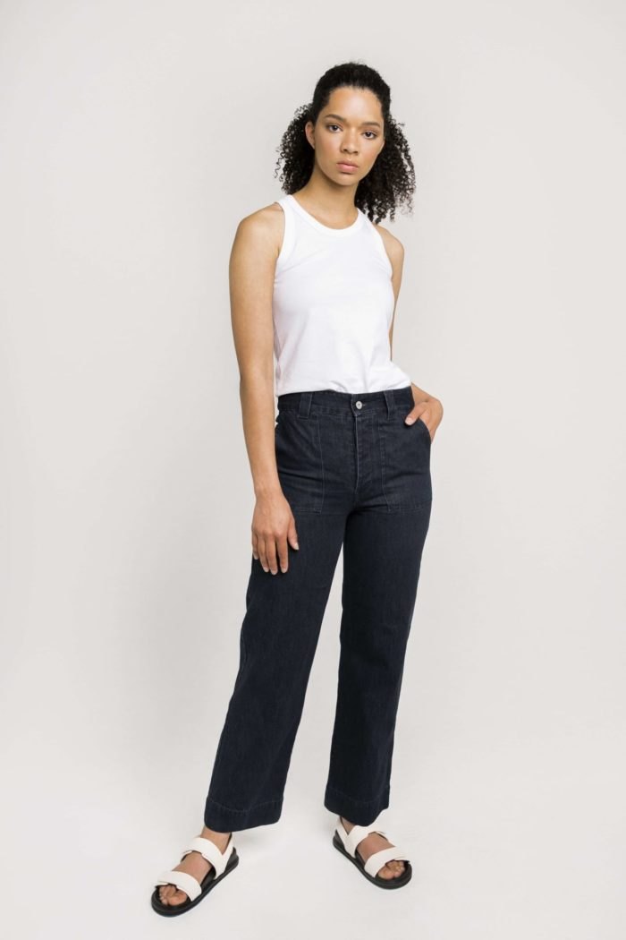 Ethical Label Kowtow's High Rise Denim Jeans