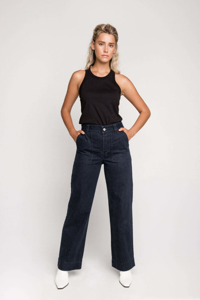 Ethical label Kowtow's High Rise Denim Jeans available now